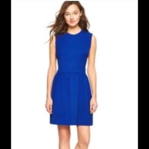Gap bright blue sheath dress